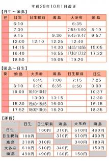 定期船 時刻表
